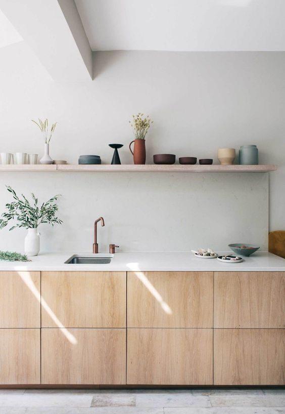 armários de cozinha minimalistas