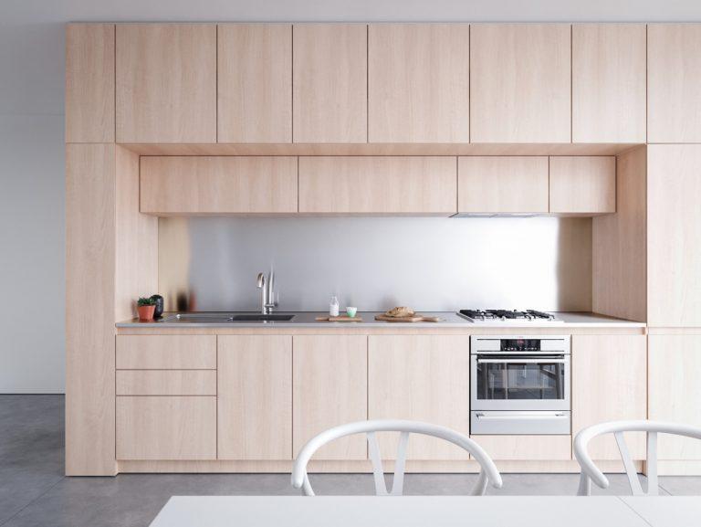 armários minimalistas para cozinha