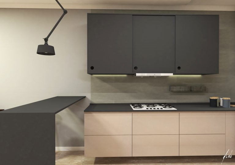 armários minimalistas pretos