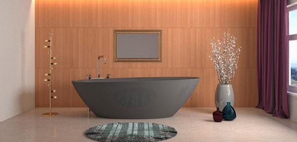 banheira de tonalidade cinza