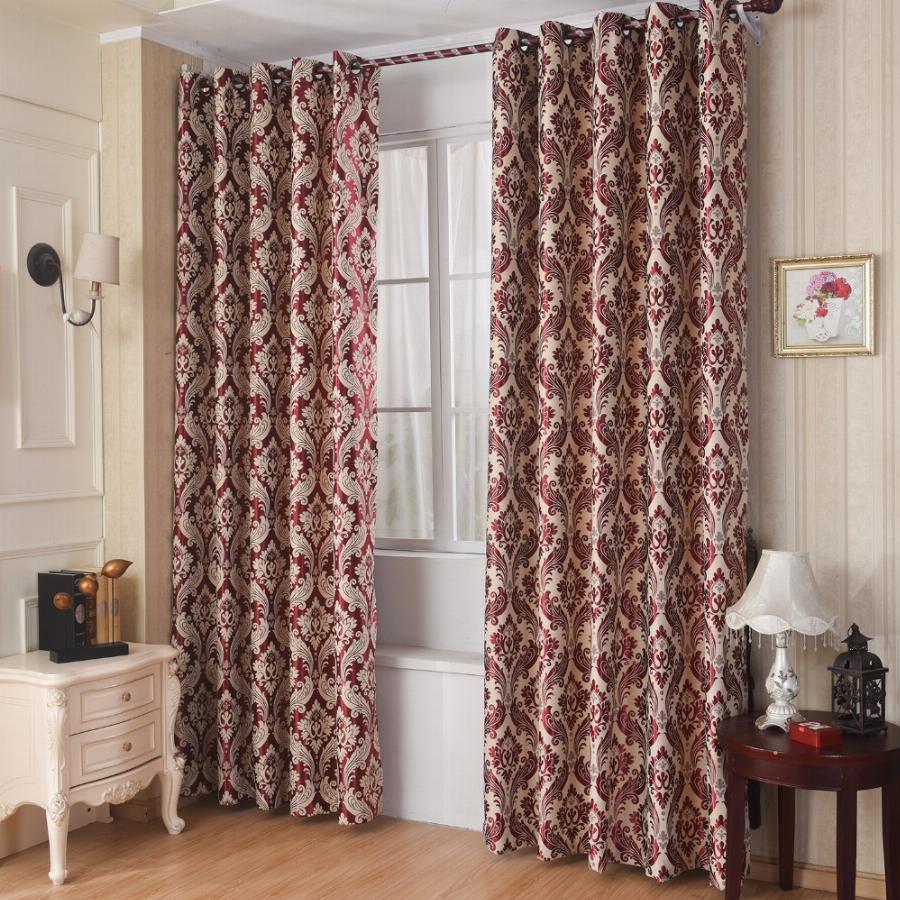 cortina longa estampada para sala