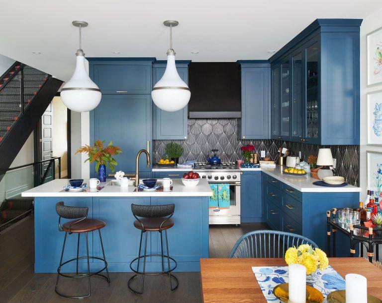 cozinha azul como tendência