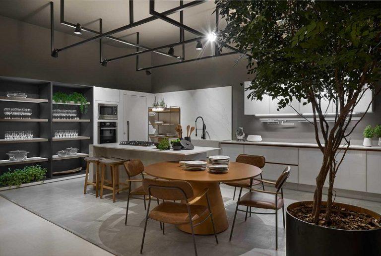 cozinha com design de vanguarda