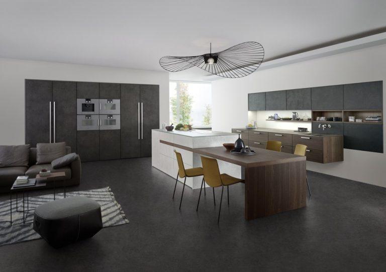 cozinha integrada e sala de estar