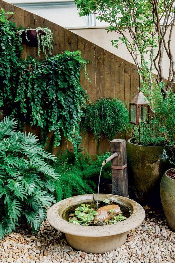 Ideia de jardim pequeno