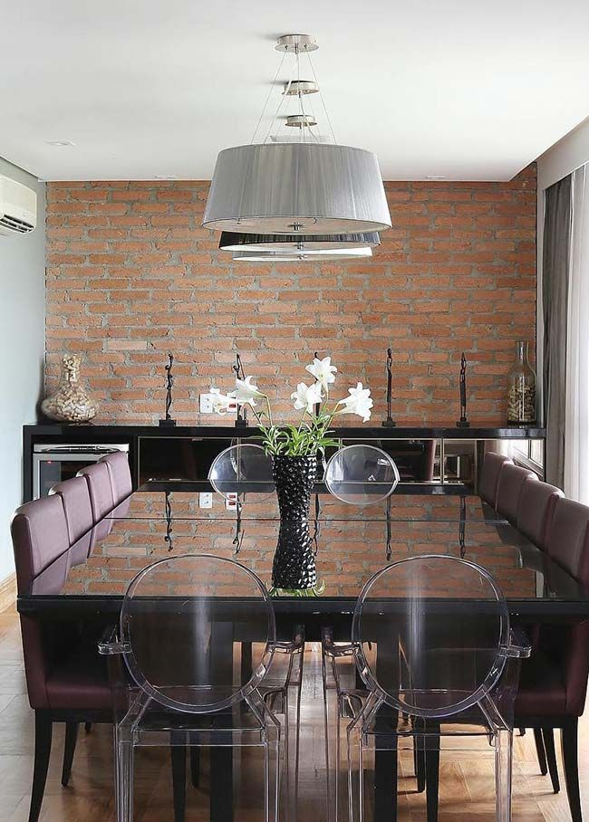 móveis de diferentes estilos para sala de jantar