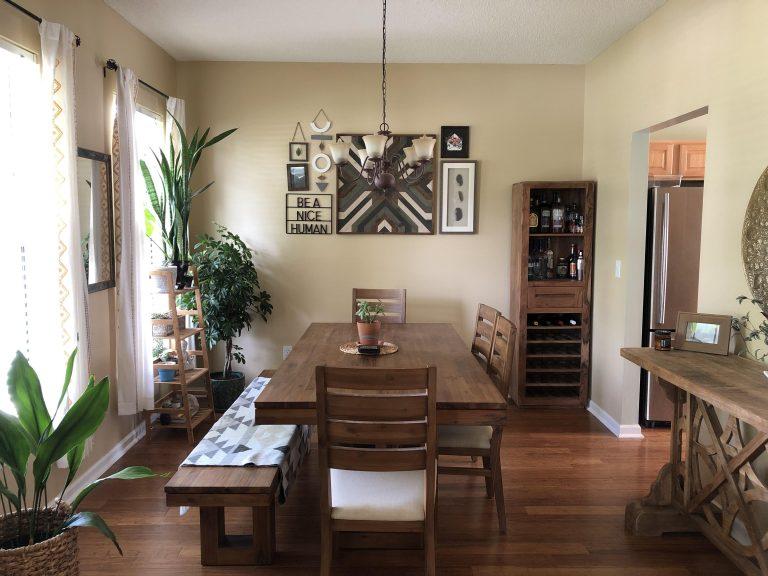 móveis de sala de jantar rústicos