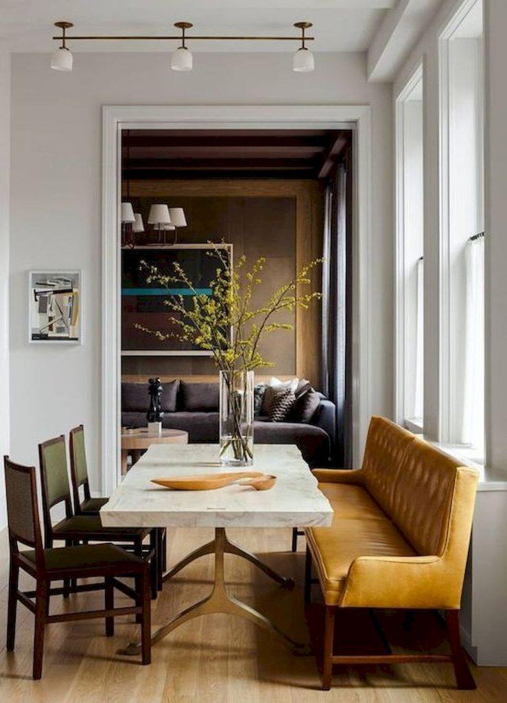 móveis diferentes e confortáveis para sala de jantar