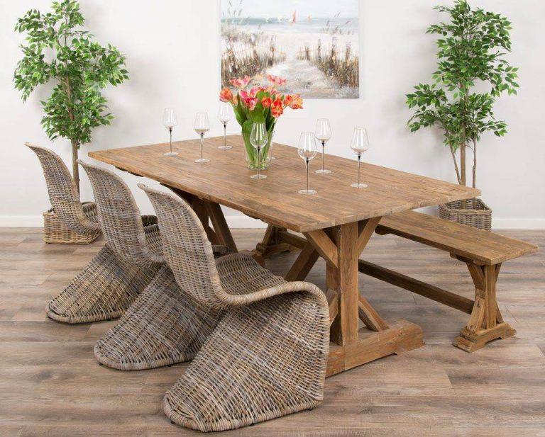 mesa de jantar sustentável