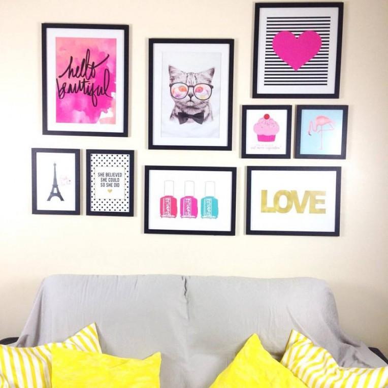 quadros em decoração de parede