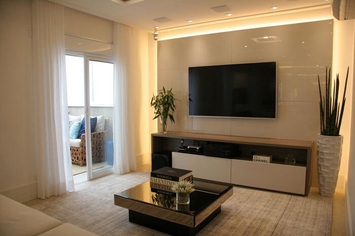 sala de estar com iluminação led