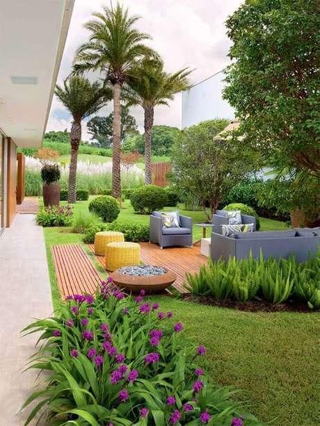 jardim grande decorado