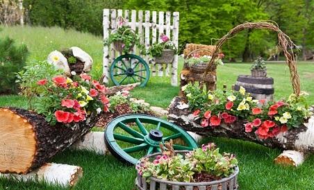 objetos de decoração para jardim grande
